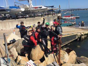 Dublin, Cork & Spanish sailors before launching Leinsters 2016!