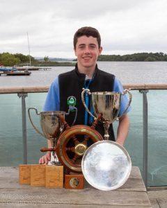Tom Higgins, Royal St George Yacht Club, winner of Irish Optimist National & Open Senior Champion 2016 @ Irish Nationals 2016. Photo by Gareth Craig (fotosail.com)