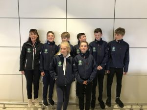 The Irish Optimist International Development Team (Poland) in Dublin airport